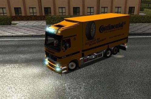MB Actros 2548 Spriegel Continental German Truck Simulator