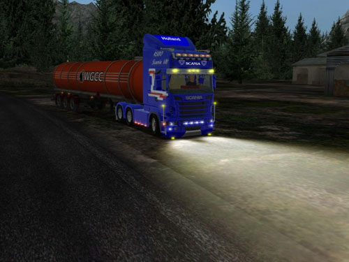 Scania R560 v8 tuning German Truck Simulator