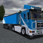 MAN F90 + Trailer German Truck Simulator