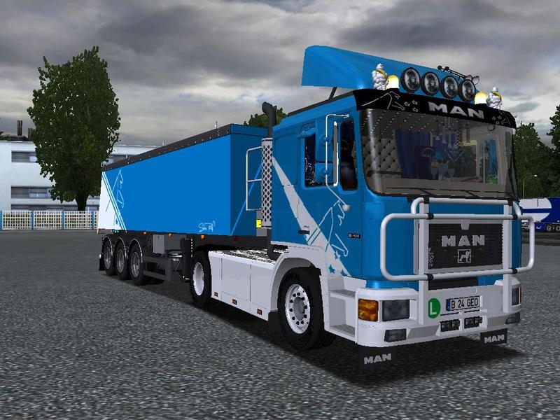 MAN F90 + Trailer German Truck Simulator