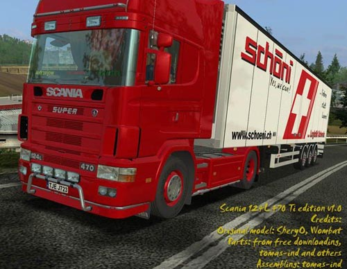Scania 124L 470 Ti edition v1.0 German Truck Simulator