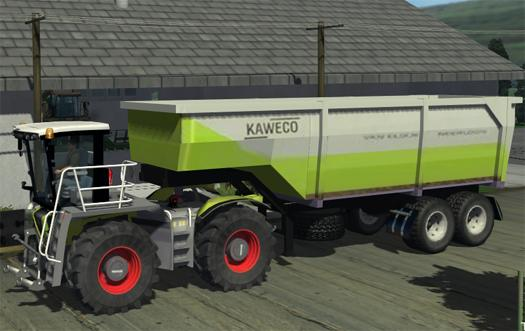 CLAAS Xerion Saddle Tractor And Kaweco Auflieger Trailer