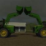 John Deere 9400 and John Deere 9630 Front Loader