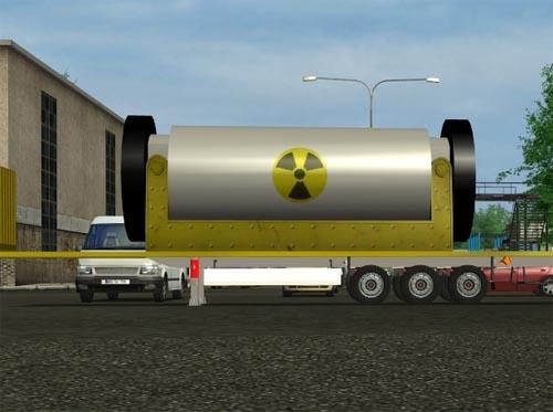 Large Nuclear Euro Truck Simulator Trailer
