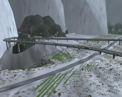 Map of Winter Euro Truck Simulator