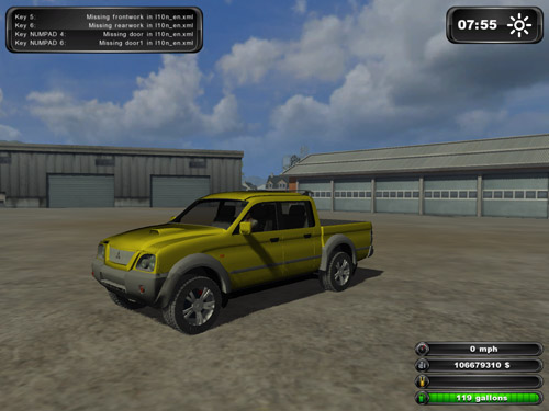 Mitsubishi L200 Yellow Version