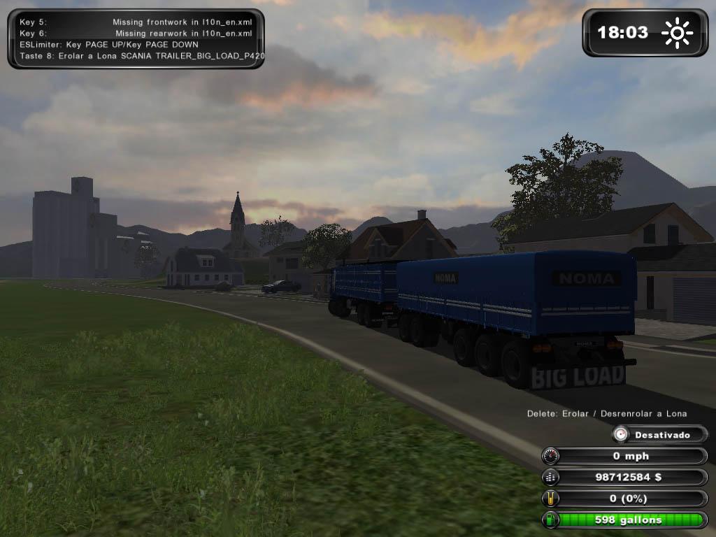 Scania 8×4 Big Load + Trailer