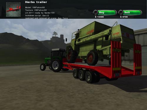 Herbs Transport Trailer