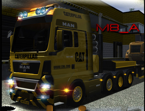 Man TGA Cat Dorse ve Truck