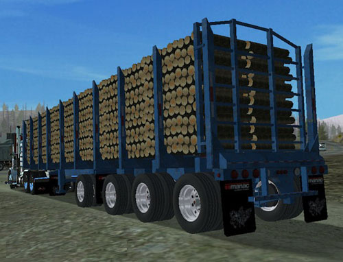 Manac Log Trailer V2 For Haulin