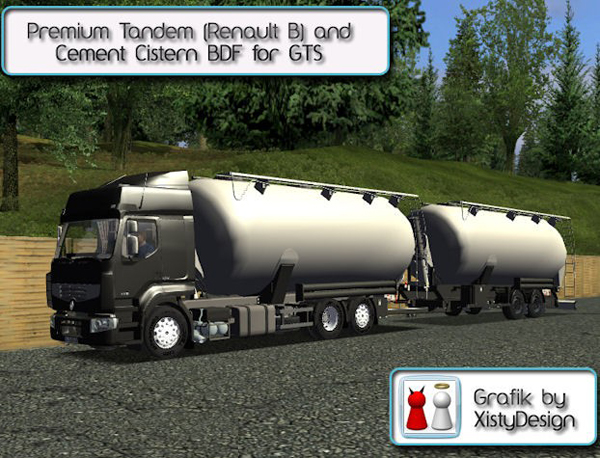 Renault Cement Tank Combo For GTS
