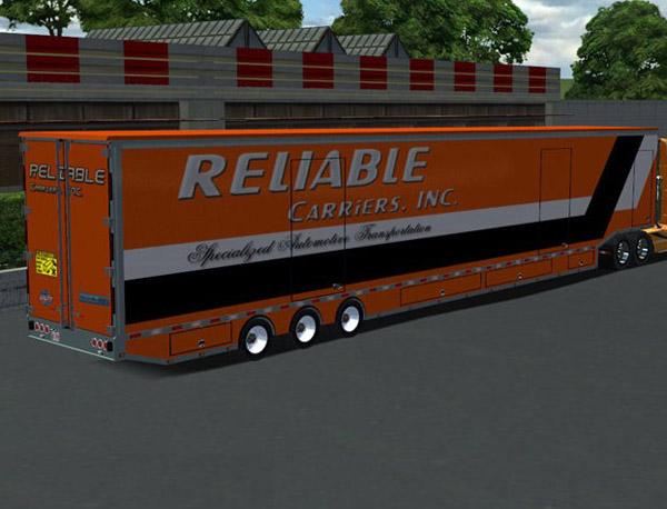 Transport Trailer Car Carrier Usa (18 Wos Haulin)