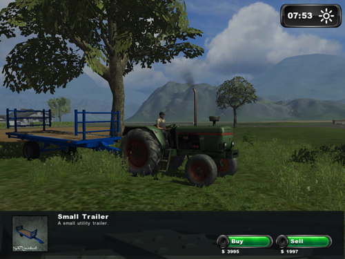 Small Bale Transport Trailer