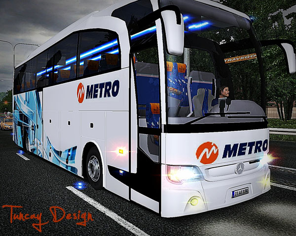 Mercedes Benz Travego 15 Skin Metro Truzim For GTS