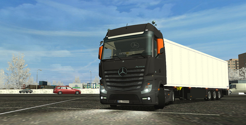 Mercedes Actros MP IV and Interior Cab Full For GTS