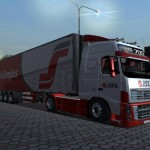 JSL Transport Volvo FH700 And Trailer For GTS