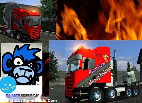 Blue Monkeys 8×4 German Truck Simulator