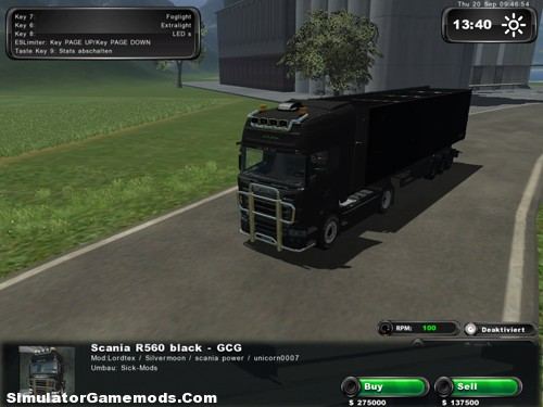 Scania R560 Matt Black