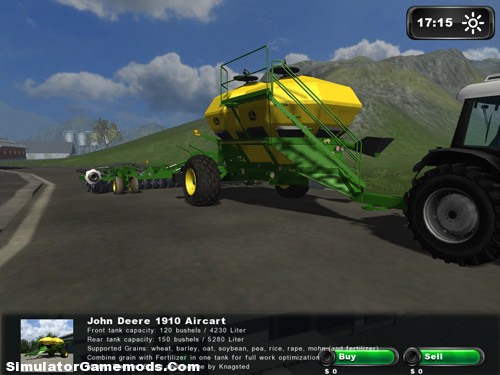 John Deere Aircart and Seeder