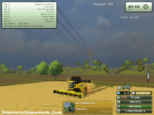 New Holland Cr 9090 Version 2.0 Combine