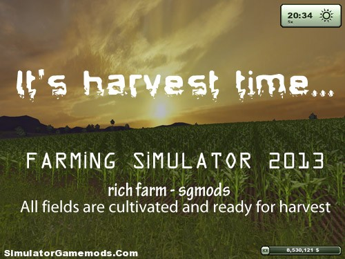 It's harvest time Farming simulator 2013