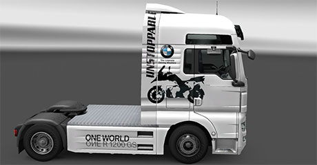 BMW skin for MAN Euro Truck Simulator 2