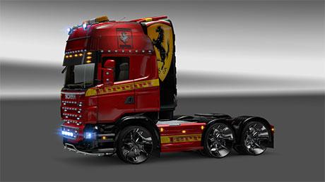 Scania Ferrari Skin [ETS 2]