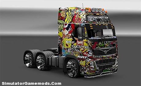 Volvo Sticker Bombs Euro Truck Simulator 2