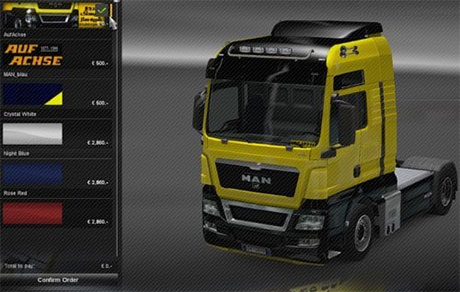 MAN Skin [Black and Yellow] [ETS 2]