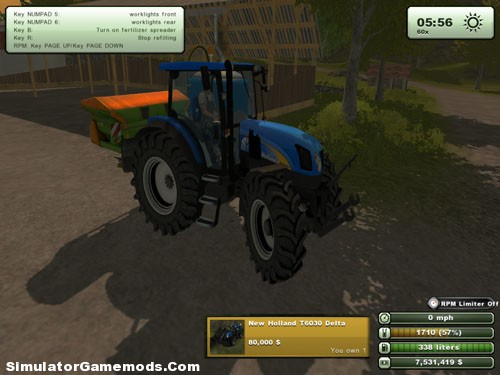 New Holland T6030 Delta Tractor