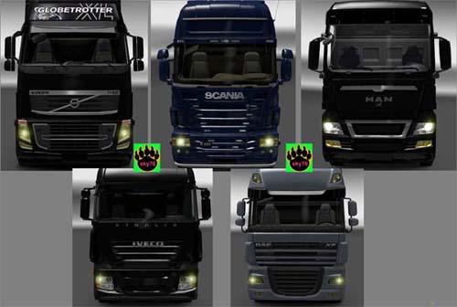 Euro Truck Simulator 2 Light Part , All Truck yellow color Light ...