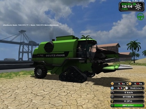 Deutz 7545 RTS TT Combine Farming Simulator 2011 Mods Ls2011 Combines Download