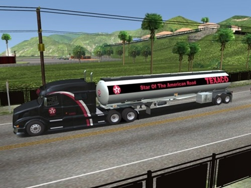 Volvo VNL 730  VNL730 Gasoline Skin 18 Wos Haulin Mods Skin 18 Wheels Of Steel Haulin