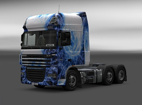 DAF Light Blue Skin