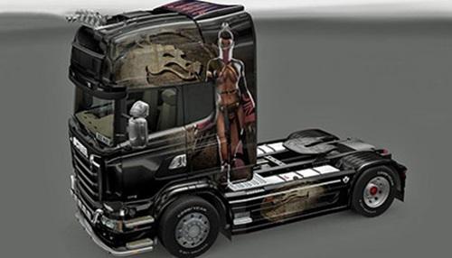 sgmods______Scania-Mortal-Kombat-Mileena-Skin