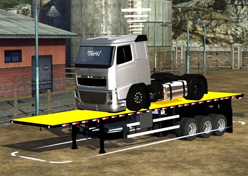 Volvo FH Truck Transport Trailer