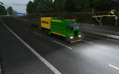 Kenworth-K100-Green-Long-Truck