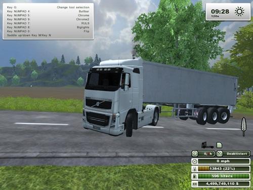 Volvo FH 16 2A White Truck | Simulator Games Mods Download