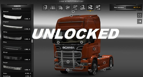 All Unlocker Mod – Unlocks all Parts Mod
