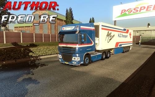 DAF XF+Trailer HZ Transport (2)