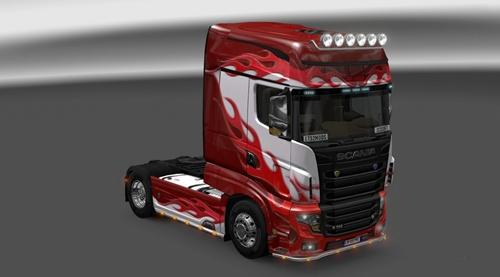 Scania R700 Flame Skin