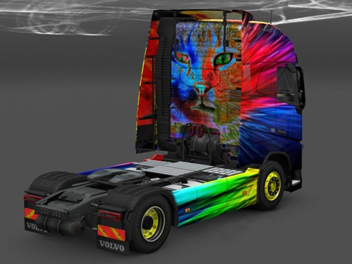 Volvo FH 2012 Cat Colours Truck Skin