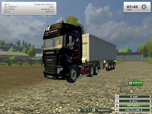 Scania R700 Evo Franki Transport Truck