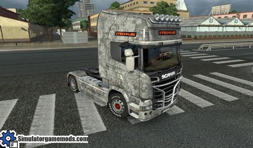 Scania Streamline Stained Gray Truck Skin
