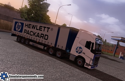 Volvo FH 2012 Truck and Trailer HP Hewlett Packard Combo Skin Pack