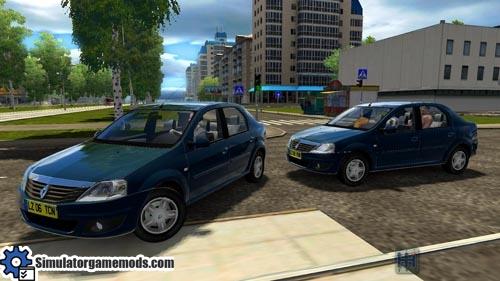 city car driving 1 4 renault logan car download simulator games mods download. Black Bedroom Furniture Sets. Home Design Ideas