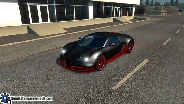 Bugatti Veyron in traffic