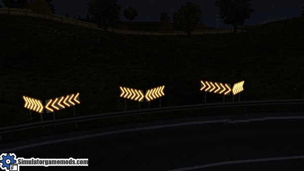 dangerous turn -lights-mod