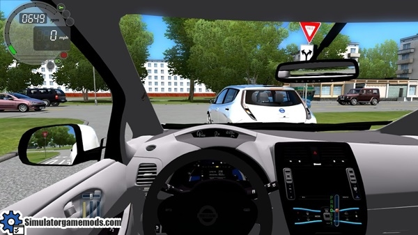 Download Car Driving Games >> Nissan Leaf – City Car Driving 1.5.0 – Simulator Games Mods Download