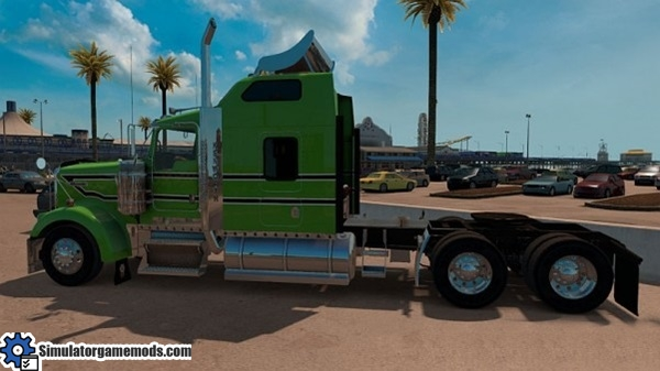 kenworth-w900-green-black-white-stripes-skin